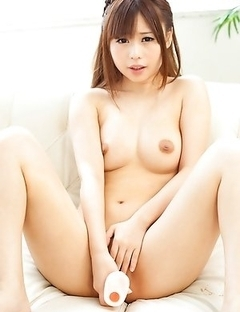 Mikuru Gently Sucks a Shiny Toy in Sexy Bead Thong!