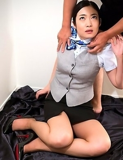 Office girl Ryu Enami gets taken to the office storage and turned into our face fuck slut.