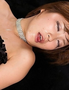 Watch Kaede Oshiros perfect face get destroyed with throat slime from gagging so much on a thick cock.